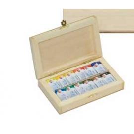 Sada akvarelových barev White night 12 ks ve dřevě