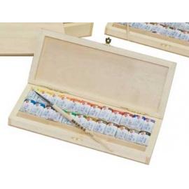 Sada akvarelových barev White night 24 ks ve dřevě