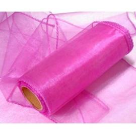 Organza šířka 40 cm /1 bm - sytě růžová