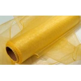 Organza šířka 40 cm /1 bm - žlutá