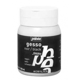 Gesso studio acrylic 500 ml  černé - pebeo
