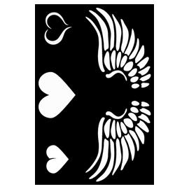 Malá šablona 13*23 cm - 010 srdce