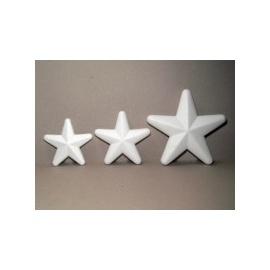 Polystyrenová hvězdička 10 cm