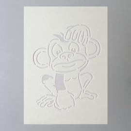 Šablona na textil  EFCO 20*15 cm opice