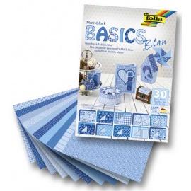 Sada papírů  Basic modrá  -30 ks