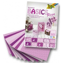 Sada papírů Basic fialových  -30 ks