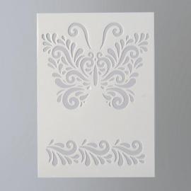 Šablona na textil  EFCO 20*15 cm motýl