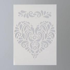 Šablona na textil  EFCO 20*15 cm srdce