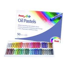 Olejové pastely pentel - 50 ks
