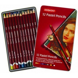 Pastel pencils Derwent 12 ks - suchý pastel v tužce