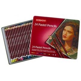 Pastel pencils Derwent 24 ks - suchý pastel v tužce