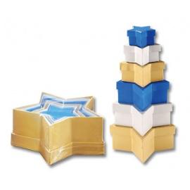 Dárkové krabičky hvězdičky barevné - 6 ks