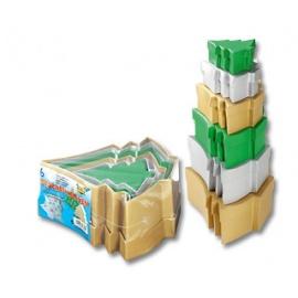 Dárkové krabičky stromečky barevné - 6 ks