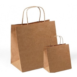 Papírová taška natur střední