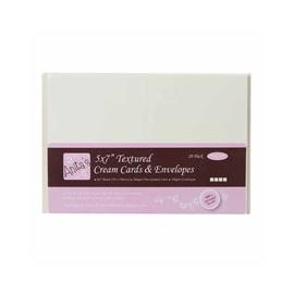 Obálka a složená karta  DL - krémová