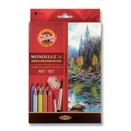 Souprava akvarelových pastelek Mondeluz 24 ks