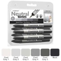 Promarker oboustranný fix  - set cool grey