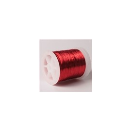 Lakovaný měděný drátek 0,3 mm/50 m červený