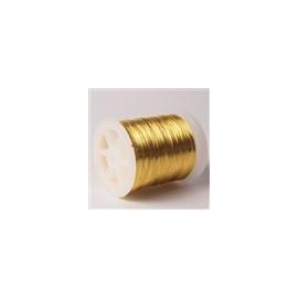 Lakovaný měděný drátek 0,3 mm/50 m zlatá