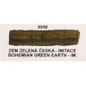Umton olejová barva zem zelená imitace  60 ml