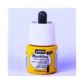 Mramorovací barvy - žlutá