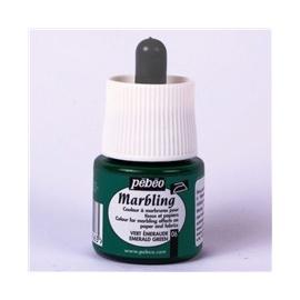 Mramorovací barvy - zelená