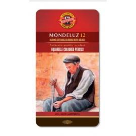 Souprava akvarelových pastelek Mondeluz 12 ks
