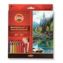Souprava akvarelových pastelek Mondeluz 36 ks
