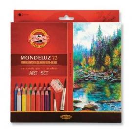 Souprava akvarelových pastelek Mondeluz 72 ks