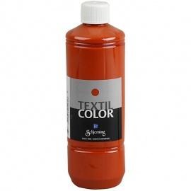 Barva na textil 500 ml - cihlová