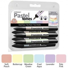Promarker oboustranný fix  - set pastel 6 ks