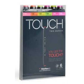 Touch marker 6 ks set fluo