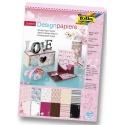 Papíry na scrapbook A4 - love