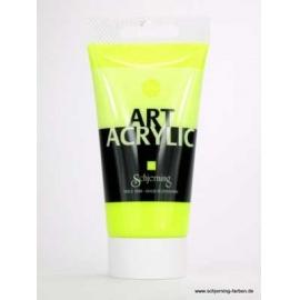 Akrylová  fluorescetní UV barva 75 ml  - žlutá