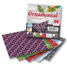 Origami papír 10x10 cm motiv ornam 80g/m2 50 archů v 5ti motivech